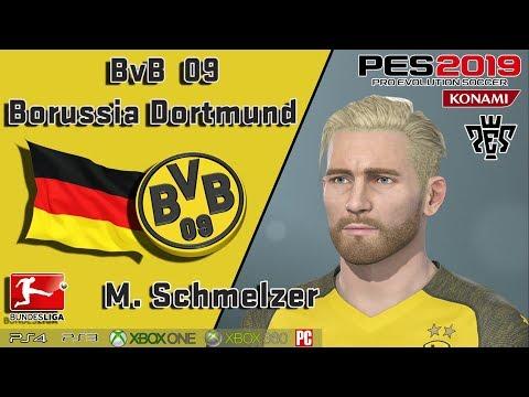 M. SCHMELZER  Face+stats  (BvB Borussia Dortmund) PES 2019