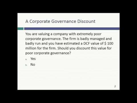 Session 13: First Valuations