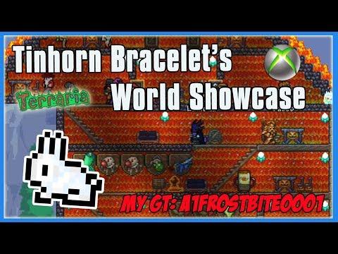 Tinhorn Bracelet's Terraria Xbox One World Showcase - Items, Buildings, Traps!