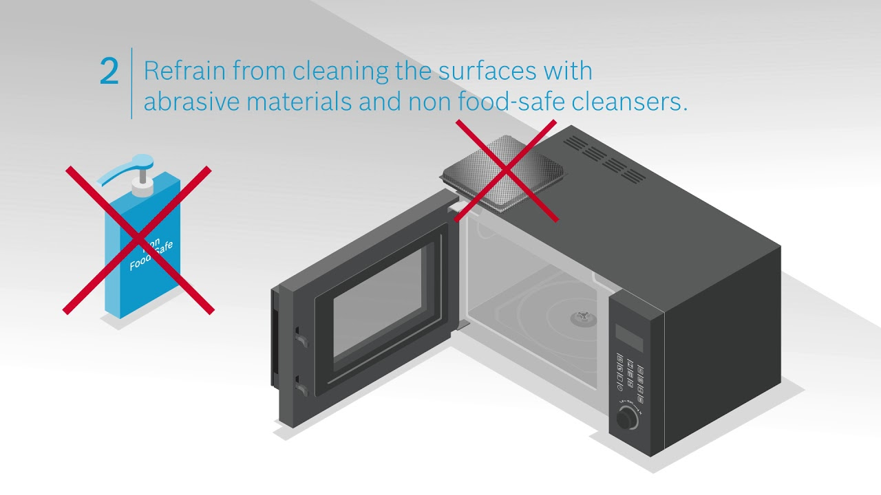 care tips for your bosch microwave oven