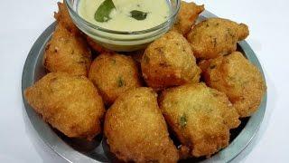 Repeat youtube video Suji ke Pakode | Suji ki Pakodi || Rava punugulu || Breakfast & South Indian Snack