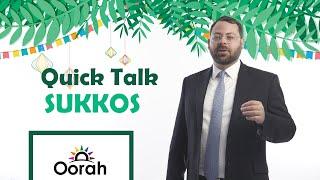 Quick Talk - Sukkos in three minutes with Rabbi Eli Bohm