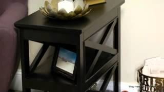 Belham Living Hampton Chair Side Table - Black