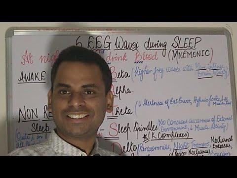 Sleep Cycle, EEG Waves Mnemonics, NON REM Versus REM Sleep