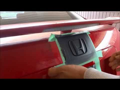 How To Plastidip Your Emblems-Black Out Your Car Badges