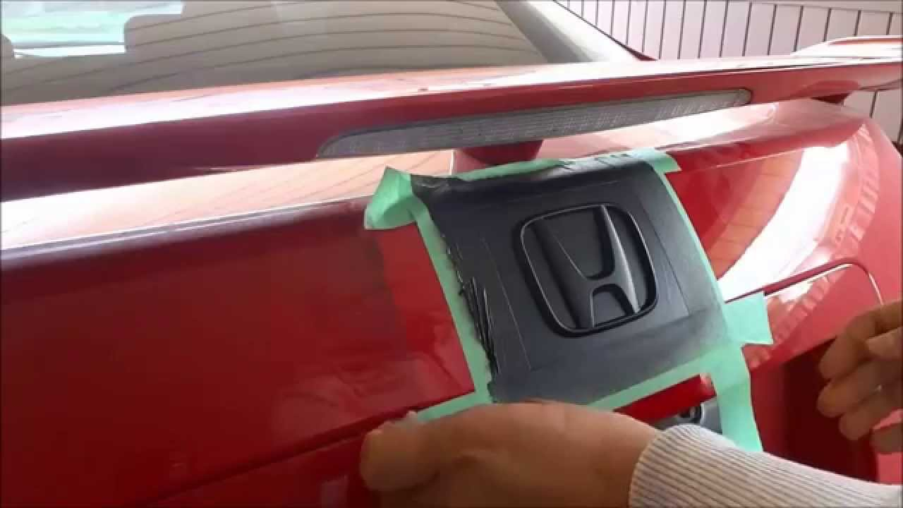 How to plastidip your emblems black out your car badges youtube