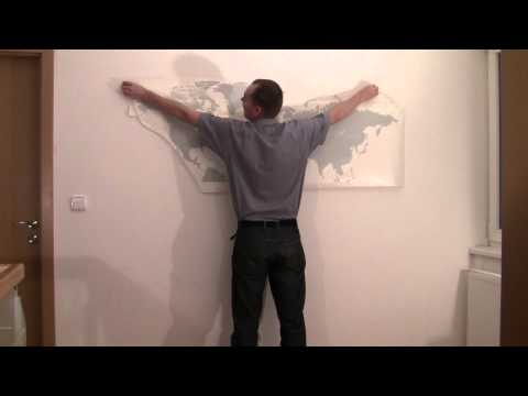 How to put up large wall-stickers from FUGU,EN