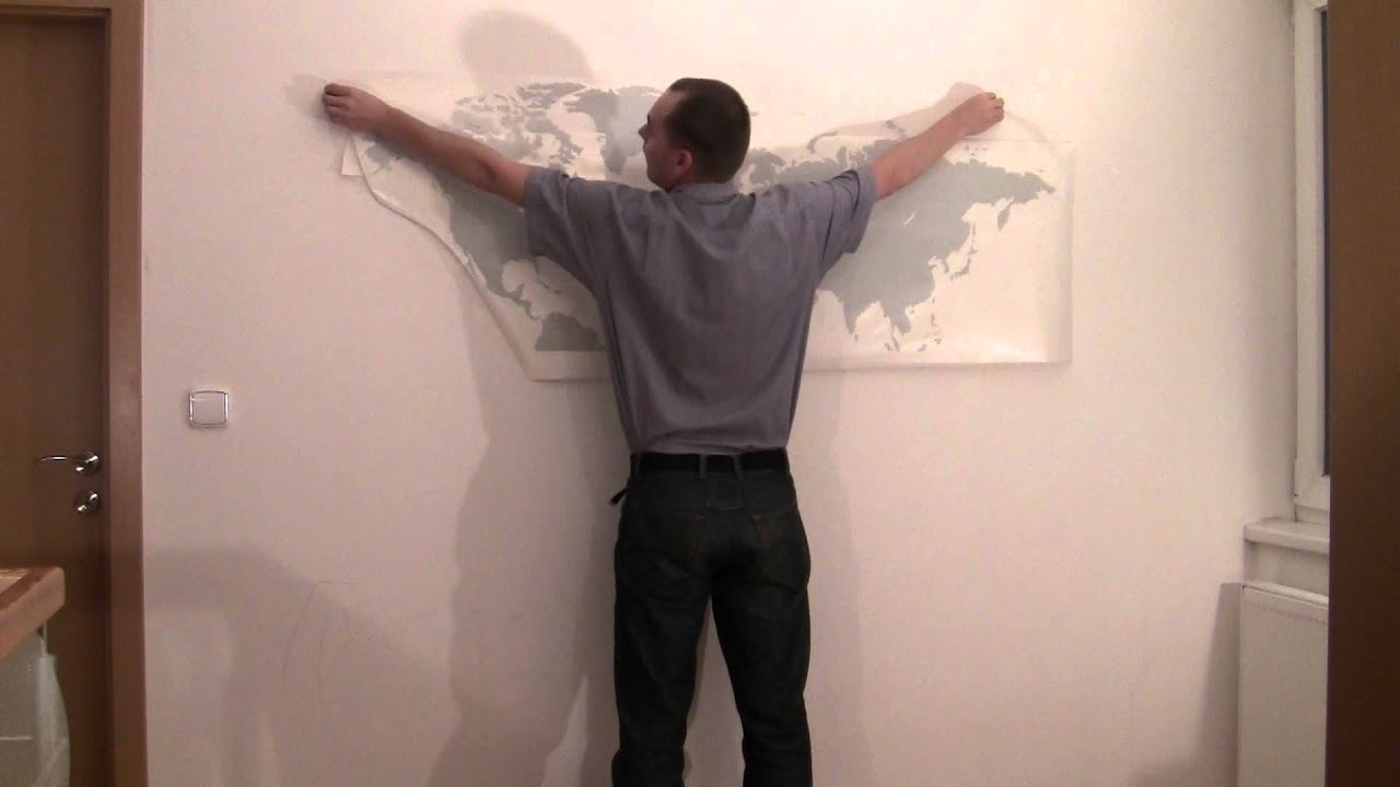 How To Put Up Large Wallstickers From FUGUEN YouTube - How do i put up a wall sticker