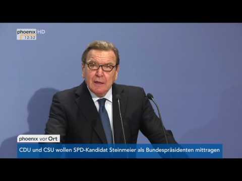 """Buchvorstellung """"Sigmar Gabriel - Patron und Provokateur"""": Rede von Gerhard Schröder am 14.11.2016"""