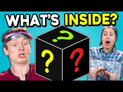 People Try To Guess What's In The Mystery Box   FBE Staff Reacts