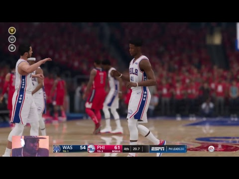 THE NBA PLAYOFFS 2019 SEASON 5 1 ROUND WASHINGTON WIZARDS SEED 1 AT PHILADELPHIA 76ERS SEED 8,GAME 3