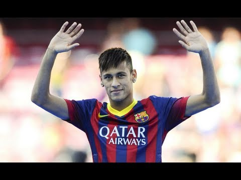 Barcelona unveil Neymar at Camp Nou