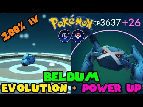 Evolving 100 IV BELDUM to METAGROSS + Power Up! - Pokemon Go GEN 3