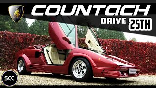 LAMBORGHINI COUNTACH 25th Anniversary 25 1989 - Test drive in top gear - V12 Engine sound | SCC TV