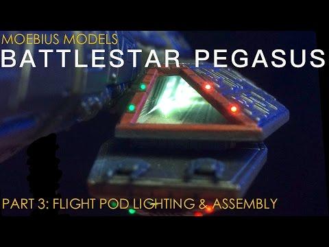 Moebius Models 1/4105 Battlestar Pegasus Part 3: Flight Pod Lighting