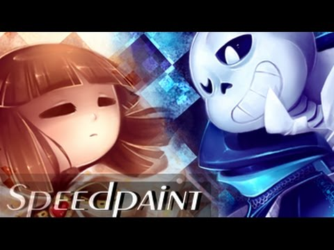 Frisk and Sans SPEEDPAINT - (ChessTale AU) Checkmate, Kid