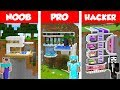 Minecraft NOOB vs PRO vs HACKER: MODERN MOUNTAIN HOUSE BUILD CHALLENGE in Minecraft 2 / Animation