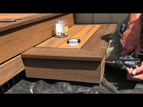Installing Trex Transcend Composite Decking on the Steps – Part 3