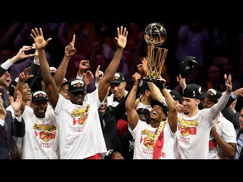 Toronto Raptors celebrate historic win