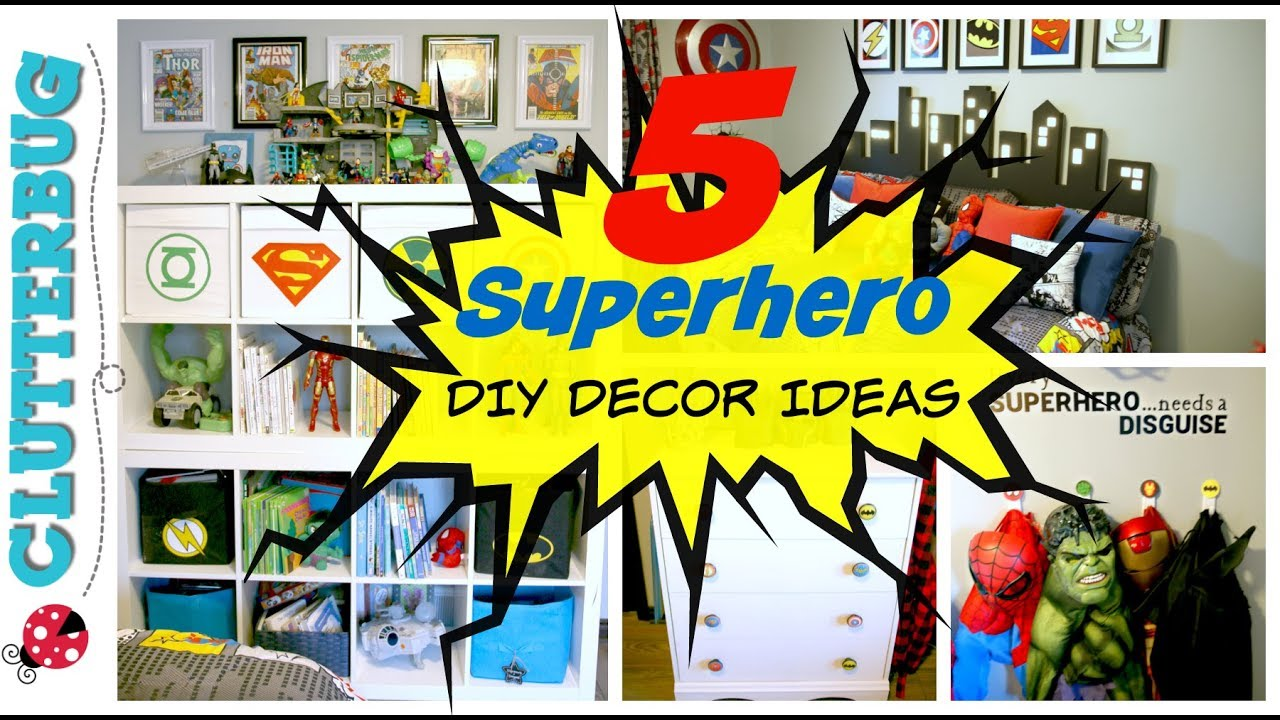 5 Easy Superhero DIY Room Decor Ideas and How To\'s - YouTube