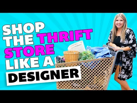 How to Shop the Thrift Store like a Designer ⚫ Thrifting Home Decor ⚫