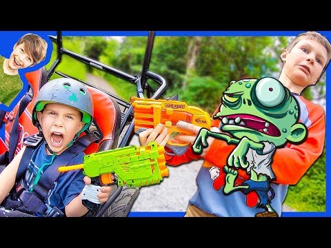 AXEL ZOMBIE NERF RESCUE MISSION!