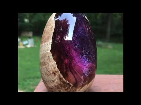 Making a Wood and Resin Galaxy Dragon Egg