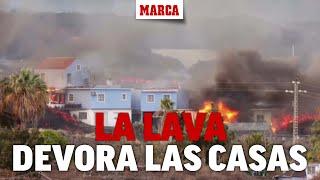 Así devoran las llamas las casas de Tajuya  I MARCA