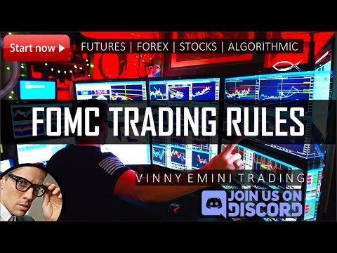 My FOMC Trading Rules for Day Trading Forex, Futures, & Stocks | Algos