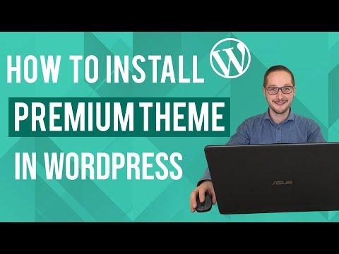 How to install premium Wordpress theme Tutorial thumbnail