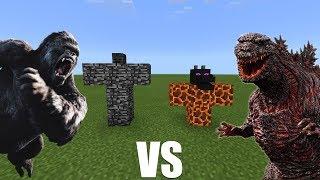 KING KONG VS GODZILLA in MCPE | Minecraft PE 1.2
