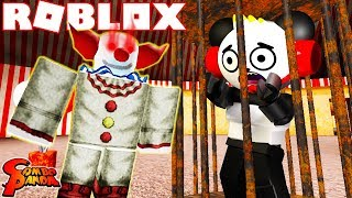 ROBLOX SCARY CIRCUS TRIP IN ROBLOX! Let's Play Roblox Circus All Endings with Combo Panda