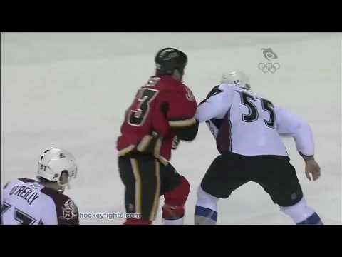 Cody McLeod vs Brandon Prust Jan 11, 2010 - Sportsnet feed