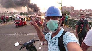 ماذا حصل في جسر الاحرار في بغداد