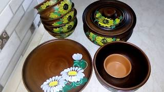 Покупка и Обзор Керамической Посуды с Красной Глины.