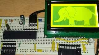 128x64 Pixels Graphic LCD interfacing with 8051 Microcontroller