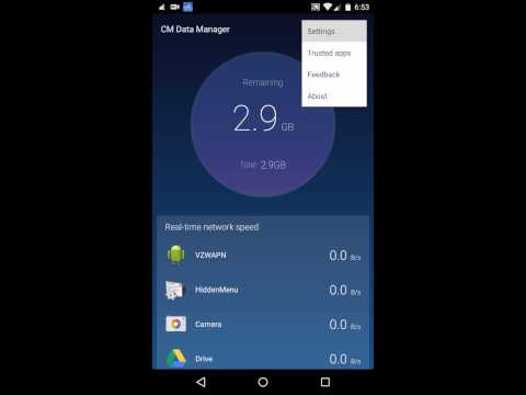 CM Data Manager App For Android
