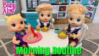 Baby Alive Justin's Morning Routine