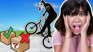DONT SMASH the WRONG MYSTERY BOX OF CLUES with SPY BIKE (chased by HACKERS on BMX bikes IRL)