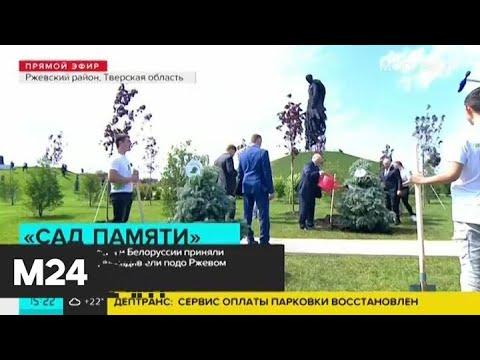 Путин и Лукашенко приняли участие в акции \