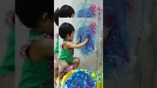 3살 아기가 추상화를 그리는 방법