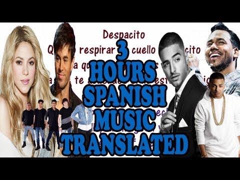 3 HOURS of Spanish Songs with Lyrics & English Translations  Shakira, Enrique, Maluma, Ozuna, CNCO!