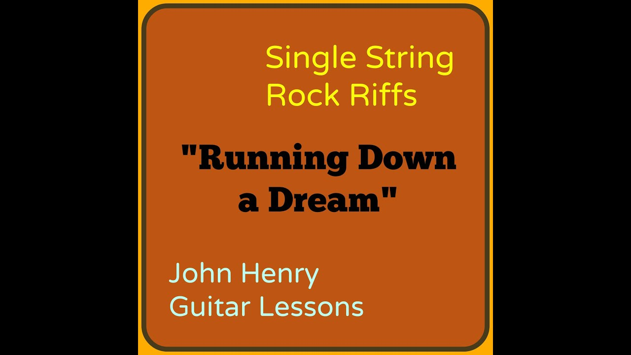 Running down a dream single string rock riffs youtube running down a dream single string rock riffs hexwebz Image collections