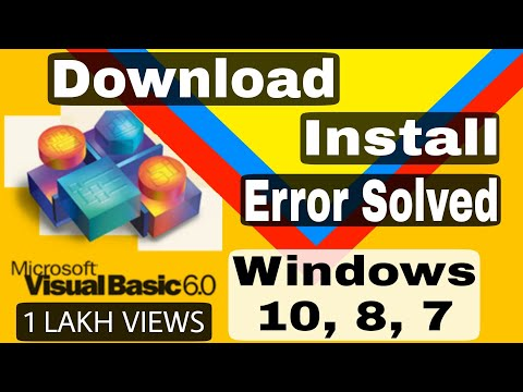 How To Download Visual Basic 6.0 In Windows 10/8/7 | Incompatibility​ Error Solved | In Hindi