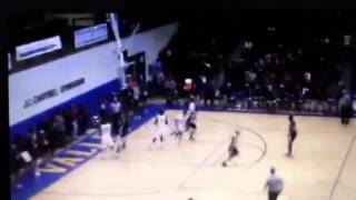 PRP's LaMontray Harris receives technical for questionable hanging on the rim call