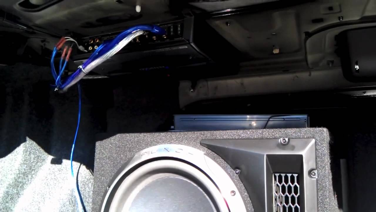 2012 Jetta Rockfordfosgate Sub And Kenwood Amp Youtube
