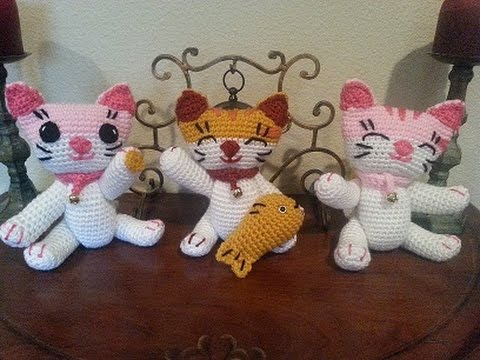 Amigurumi Square Tutorial : Helenmay Crochet Fusakos Crochet Lucky Cat DIY tutorial ...