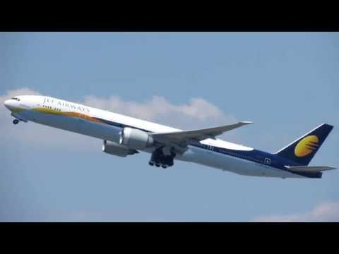 Jet Airways/Etihad Airways Boeing 777-300ER Takeoff at John F. Kennedy International Airport