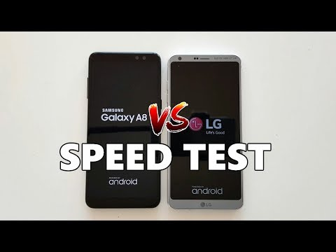 Samsung Galaxy A8 (2018) vs. LG G6 SPEED TEST - Which is Faster?