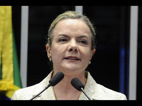 Gleisi Hoffmann questiona decisão do governo pela internvenção no Rio de Janeiro